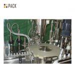 Chemicals Bottle Filling Line / Foaming Detergent Filling Machine Line With Servo Filling Machine