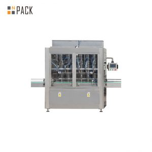 PLC Control 10 Heads Gravity Bottle Filling Machine For 1 - 5L Bleach Cleaner