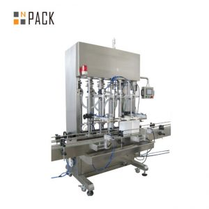 500ml-5L Automatic 6 Heads Paste Filling Machine With Servo System For Cream With Conveyor PLC Control