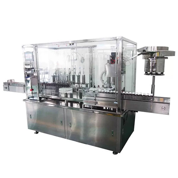 8 Head Syrup Automatic Filling And Capping Machine For Pharmaceutical Production Line