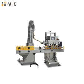 Pneumatic Plastic Jerry Can Capping Machine With Linear Type Structure