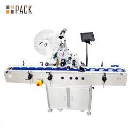 Electric Plane Self Adhesive Labeling Machine , Carton / Can / Bag Labeling Machine