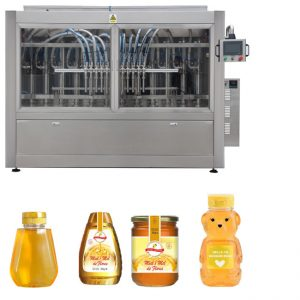 PLC Control Honey Jar Filling Line Automatic Liquid Filling Line GMP Standard