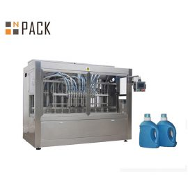 Automatic Liquid Detergent Filling Machine, Liquid Soap Filling Line With Piston Filler
