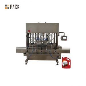 High Precision Lubricant Engine Oil Filling Machine 8 Nozzles For Mechanical Industry