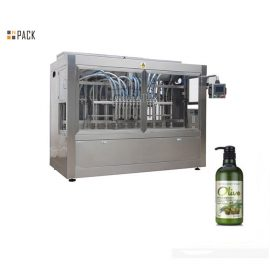 PLC Inline 8 Heads Ointment Filling Machine For Shampoo / Shower Gel / Fabric Softener