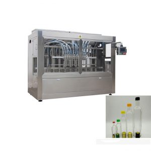 Liquid Bottle Filling Line With Bottle Capping Machine And Double Side Labeling Machine