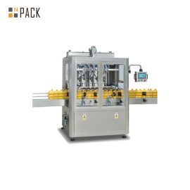Touch Screen Control Automatic Liquid Filling Machine , Time Gravity Liquid Filling Equipment