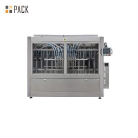 Liquid Cleaner Linear 6 Heads Paste Filling Machine Double Servo Driven