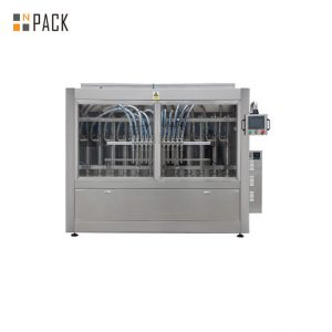 Cream Filler Paste Bottle Filling Line With 10 Nozzles Volumetric Piston Filling Machine