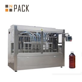 Linear 8 Heads Auto Liquid Filling Machine For Chemicals / Fertilizer / Pesticide
