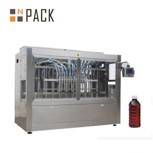 Linear 8 Heads Auto Liquid Filling Machine For Chemicals / Fertilizer / Pesticide