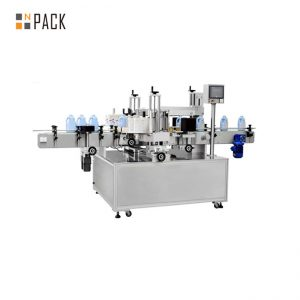 Self Adhesive Automatic Bottle Labeling Machine For Front And Back Panel Labels