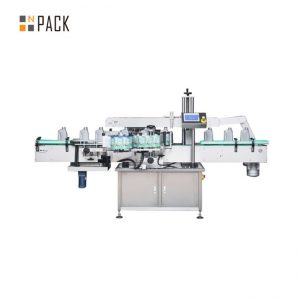Tin Bottles Cold Glue Labeling Machine With Wet Glue Paper For Round Vegetable Oil Bottle
