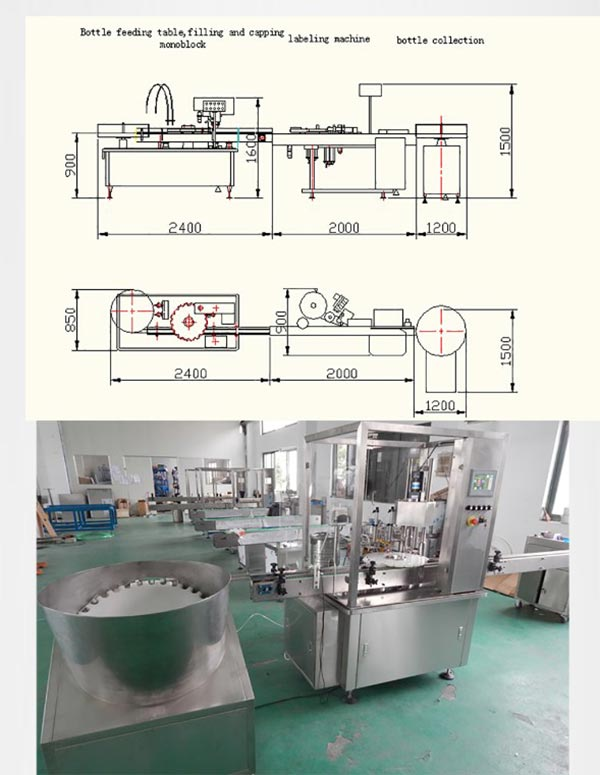 Vial E-Liquid Filling Stoppering Capping Production Line