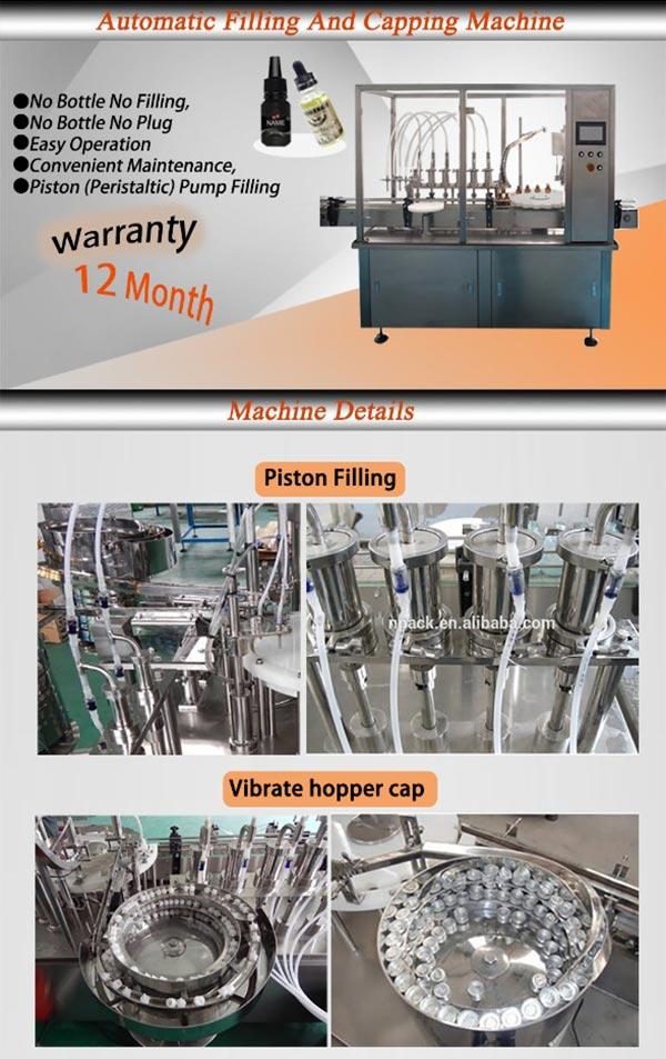 Pharmaceutical Vials Filling Capping Machine for Medicine Liquid