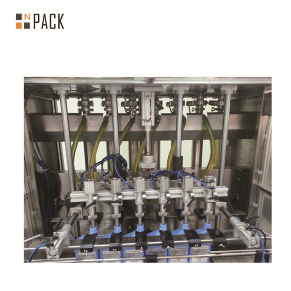 Automatic 6 Heads Glass Bottle Cosmetic Cream Oil Liquid Filling Bottling Machine