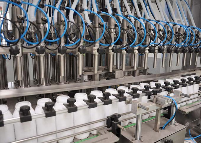 PLC Control Laundry Detergent Filling Machine Line With High Production Efficiency