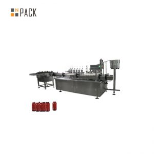 Servo Motor Control Paste Filling Machine , 5g-100g Jar Cosmetic Cream Filling Machine