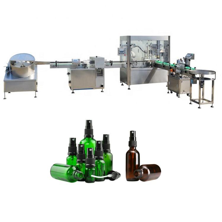 Spray Liquid Filling Capping Machine