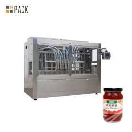 Automatic Paste Filling Machine For Condiment , 350G Piston Salad Dressing Filling Machine