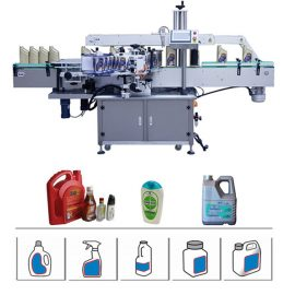 Automatic Double Side Bottle Labeling Machine For 5-25L Oil Detergent / Shampoo Drum