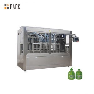 Linear 1L Dishwasher PET Bottle Filling Line With Bottle Unscrambler Machine