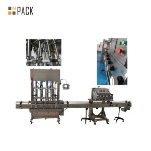 Press Push On Automatic Bottle Capping Machine 8 Heads For Edible Oil / Talcum Powder